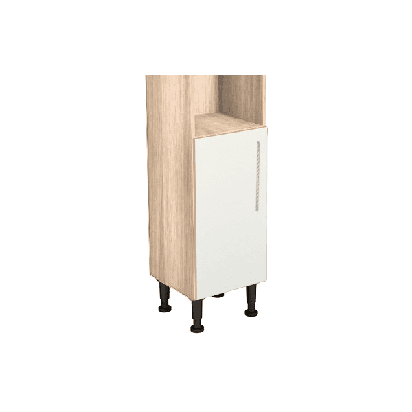 Vio Toilet Roll Unit 200 x 200 x 835mm Core Ivory Gloss Natural Oak