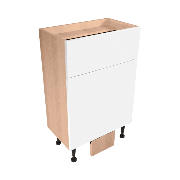 Vio Back to Wall Toilet Unit 500 x 290 x 835mm Core Ivory Gloss Natural Oak