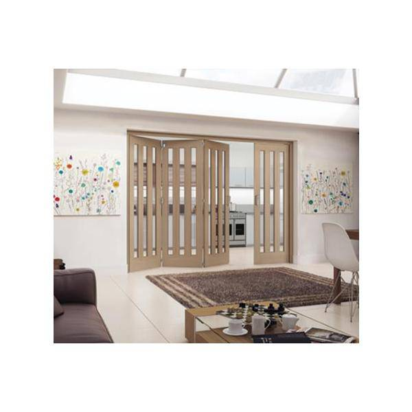 Jeld Wen Internal Aston Wh Oak Clear Glazed 4+0 2545mm PEFC