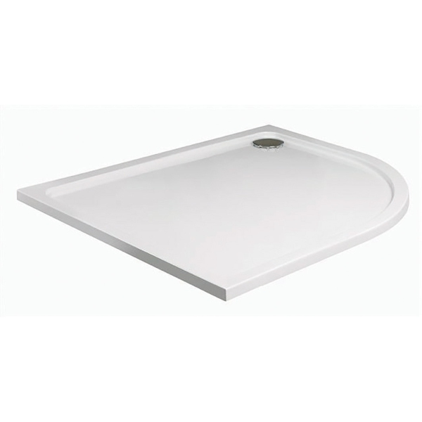 JT40 Fusion Offset Quadrant Tray 900 x 760mm White Right Hand