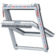 Keylite White Centre Pivot Roof Window 550 x 980mm WFCP02T
