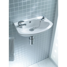 Lecico Atlas Cloakroom 459mm Round Basin 2 Tap Hole