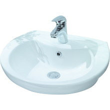 Lecico Atlas Semi Recessed Basin 2 Taphole White