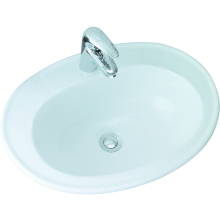 Lecico Atlas Vanity Basin 535mm 2 Taphole White
