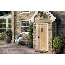 "LPD Oak Cottage Glazed 1L Door 1981x838mm (33"")"