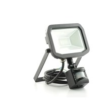 Luceco LFSP10W1B30-01 10W Slim Floodlight with PIR - Warm White
