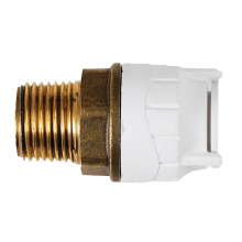 Male BSPT Adaptor Brass Body White 10mmx1/2inch