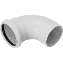 Marley 110mm Short Radius Bend Sol Socket Spigot 87.5 Degree