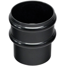 Marley 68mm Loose Pipe Socket Black
