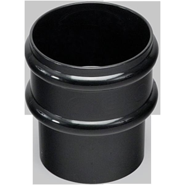 Marley 68mm Loose Pipe Socket Black
