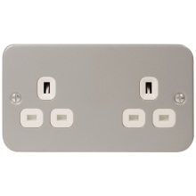 Metal Clad Sockets MC524 2G UnSwitched