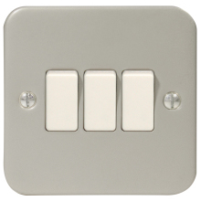 Metal Clad Light Switch 2Way MC543 3G