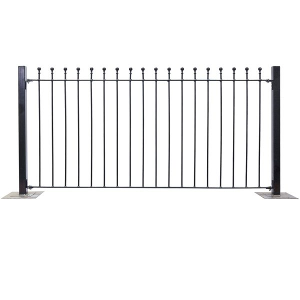 Metpost Wenlock Ball Top Fence  900x1810x25mm
