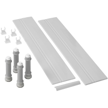 Mira Flight Rectangle Low Riser Conversion Kit 1200mm White