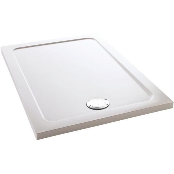 Mira Flight Rectangle Low Shower Tray 1200mm X 800mm White