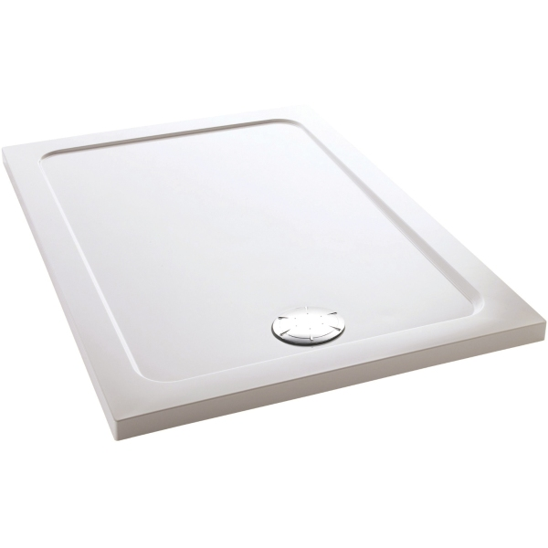 Mira Flight Rectangle Low Shower Tray 1000mm x 760mm White