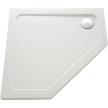 Mira Flight Rentangle Low Shower Tray 1200mm x 900mm Right Handed White