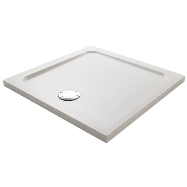 Mira Flight Safe Square Low Shower Tray 760mm White