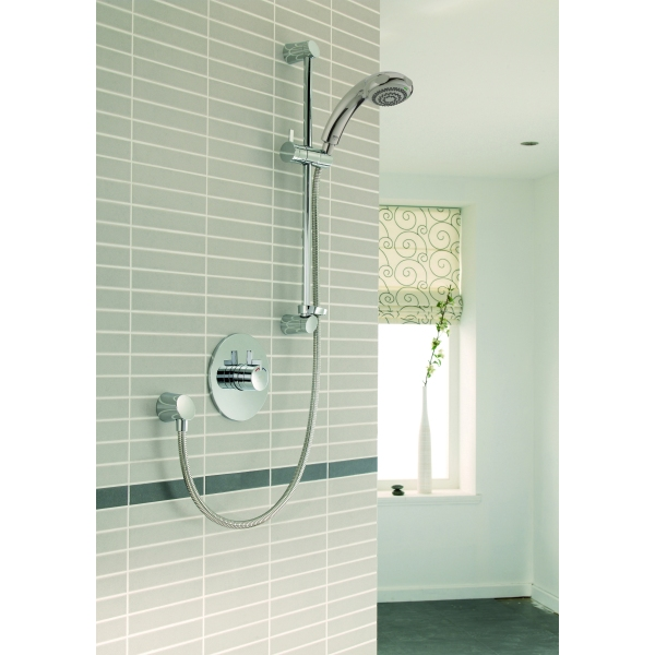 Mira Miniduo and Eco Showerhead Built in Valve Chrome