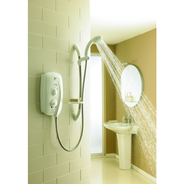 Mira New Sport Electric Shower 9.0kw White/Chrome
