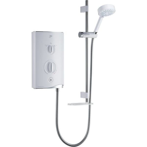 Mira Sport Thermostatic Electric Shower 9.8kw Shower White/Chrome