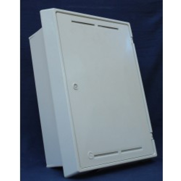 Mitras Gas Meter Box Built In White Including Cap