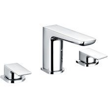 Moon 3Tap Hole Deck Mounted Bath Filler Tap Chrome