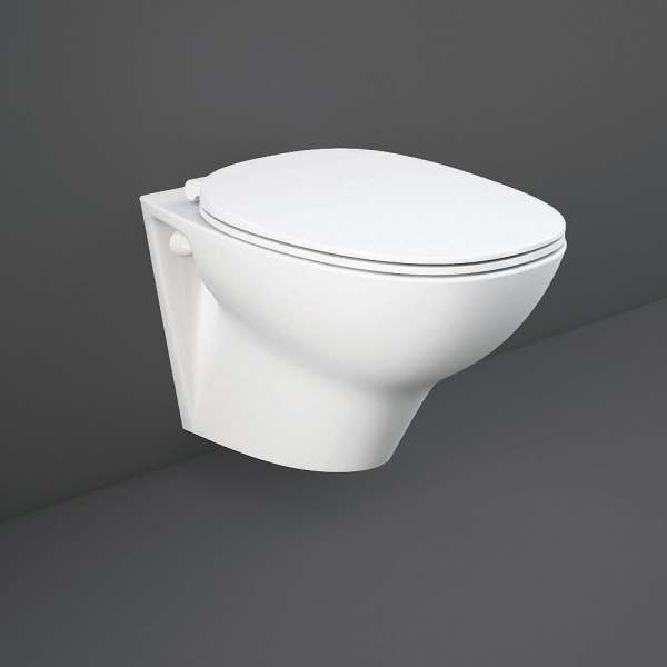 Morning Rimless Wall Hung Pan With Exposed Fitting