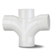 MUPVC Waste Cross Tee White 50mm