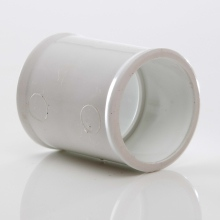 MUPVC Wastepipe Straight Coupler White 32mm
