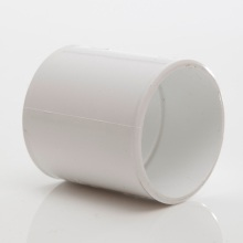 MUPVC Wastepipe Straight Coupler White 50mm