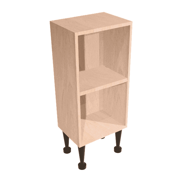 Vio Open Shelf Base Unit 200 x 180 x 835mm Natural Oak