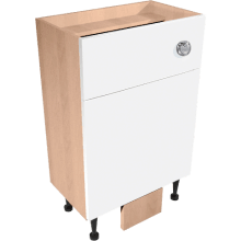 Vio Back to Wall Toilet Unit inc. Cistern 600 x 290 x 835mm Source Natural Oak Soft Whit