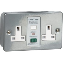 NE2RCD-13AM  RCD Metalclad Twin Socket