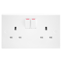 Nexus 922 13A 2 Gang Switched Socket Outlet
