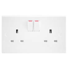 Nexus 922DP 13A 2 Gang Double Pole Switched Socket Outlet