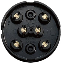 Nexus Junction Box Brown 6 Way 20A 89mm Diameter