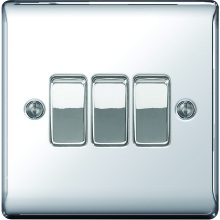 Nexus Metal Polished Chrome 2Way 10A Switch