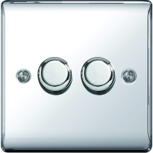 Nexus Metal Polished Chrome 2Way Dimmer Switch