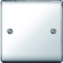 Nexus Metal Polished Chrome Blanking Plate
