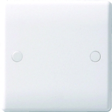 Nexus Moulded White 1 Gang Blank Plate