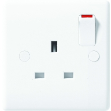 Nexus Moulded White 13A Double Pole Switched 1 Gang