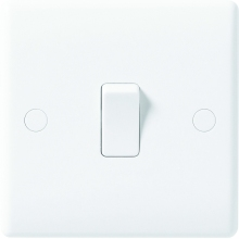 Nexus Moulded White 2-Way 10AX Plate Switch 1-Gang