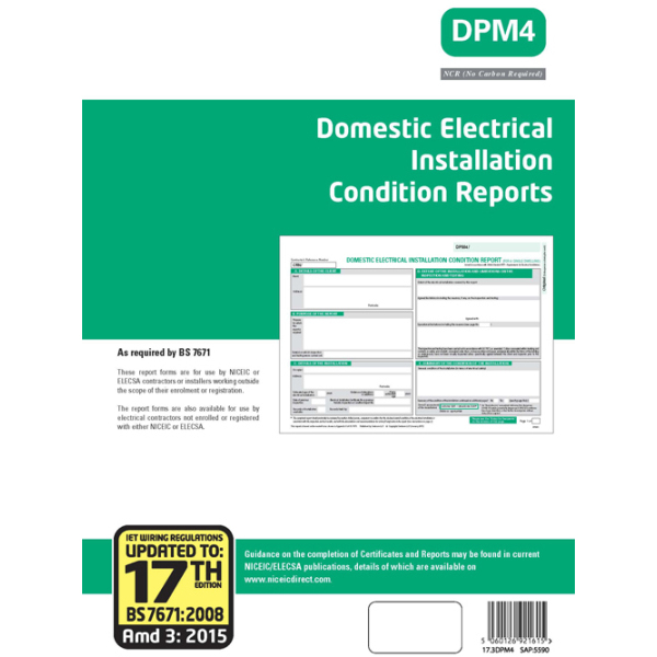 NICEIC 5590 GR Certificate-DEICR17/3 | Electricbase