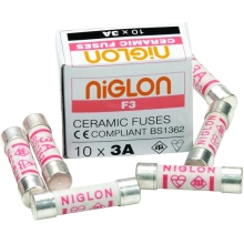 Niglon F3 3A Fuse Table Top Pack of 10