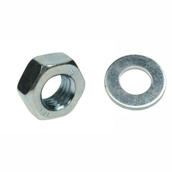 OJ Hex Nut and Washer Bzp M8 Pack 20