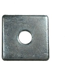OJ Square Plate Round Hole Washers BZP - Small Bag - 50x50x3x16