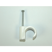 OJ UF White Masonry Nail Pipe Clip 22mm