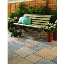 Bradstone Old Riven Patio Pack 2450 x 2150mm Autumn Gold