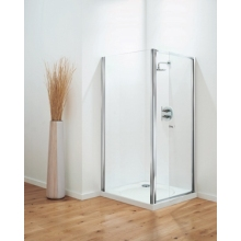 Optima Pivot Door Plain Glass Chrome 900mm Plain Glass Chrome